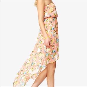 2 for $40: Floral High-Low Midi Dress